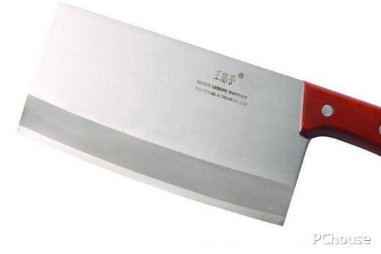 不锈钢刀具(菜刀)采用激光打标机