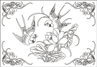 【花鸟鱼虫】激光打标机花鸟鱼虫矢量图模板159个下载地址